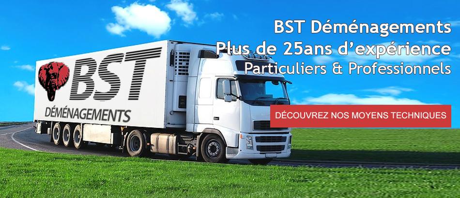 BST Déménagements Plus de 25ans d'expérience Particuliers & Professionnels
